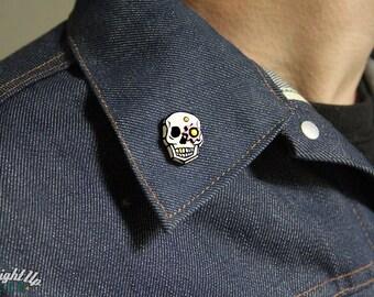 Enamel Pin Skull Sugar Skull Goth