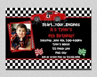 Race car invitation Etsy