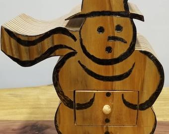 Douglas Fir Snowman Box