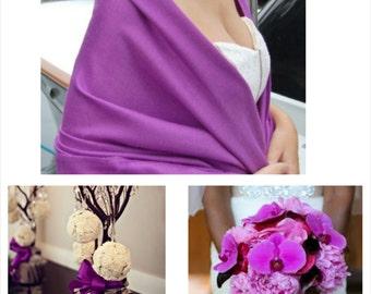 PURPLE MAGENTA PASHMINA. Pashmina Shawl. Wedding favors. Pashmina Scarf. Bridal Shawl. Bridesmaids gifts.