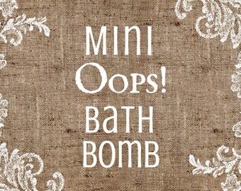 Oops! Mini Bath Bomb Sale Clearance Closeout 1.5 oz Handmade Artisan Bath Fizzy Homemade Handcrafted Foot Soak Bath Fizzes Bath Bomb On Sale