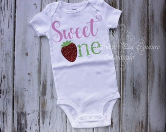 Strawberry First Birthday Outfit- Strawberry Birthday- Birthday Outfit- Sweet One Birthday- Strawberry Shortcake 1st Birthday- Cake Smash