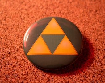 2.25 inch Triforce Pin-back Button