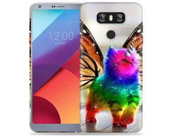 Lg G6 Case #Butterfly Cat Design Hard Phone Case