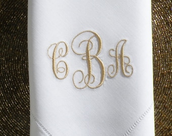 Monogram Dinner Napkin Embroidered Dinner Napkins Personalized Dinner Napkin Custom Cloth Napkins By Canyon Embroidery