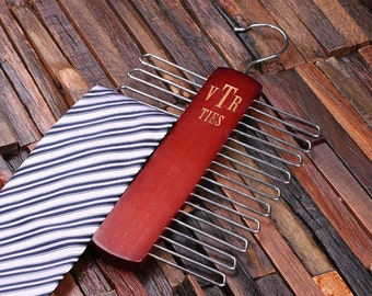 Personalized Tie Hook Hanger Groomsmen, Father's Day, Christmas Gift for Men