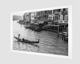Venice Gondola #1 Fine Art Print, 1:50 Limited Edition / home decor / decoration / photo / photography / black and white /