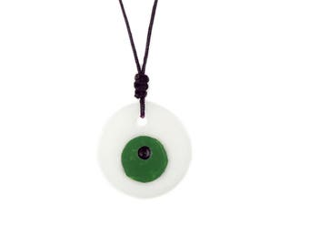 Marble Pendant// Marble in Handmade// Marble Jewelry// Holiday Gift// Elegance// Lucky Charm//Eye Design// Summer Creations