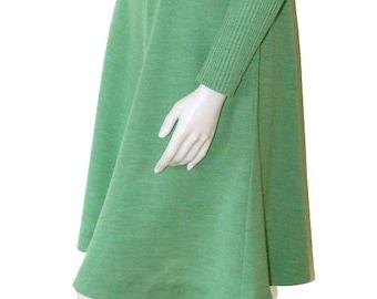 Vintage 1970's Turtleneck Dress and Jacket Size 6