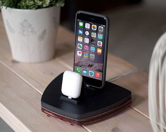 NytStnd AIRPODS DUO 1 Midnight - FREE Shipping Dock Charging Station Wireless for iPhone X 8 AirPods Birthday Gift Present Valentine