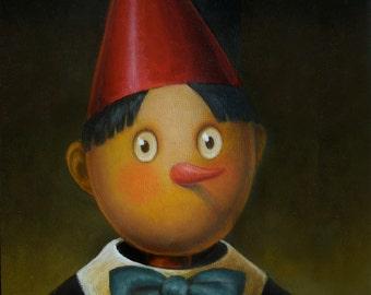 Pinocchio Portrait Print - Pinocchio Illustration - Children's Art - Children's Book Art
