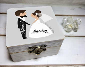 Wedding Ring Box, Wedding Ring Box Holder, Custom Wedding Ring Box, Custom Ring Box, Wedding Ring Bearer Box, Unique Wedding Ring Box