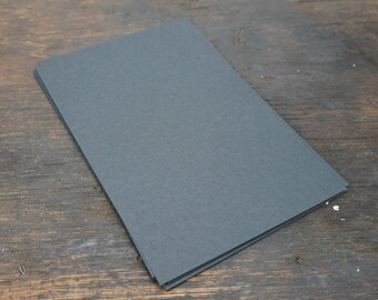 Black Card Stock, 30 Sheets, Folds to A2, Flat Size 8.5 x 5.5 In. Kraft Paper 100 lb Weight Cover Stock. Card Making Supplies. Paper craft.