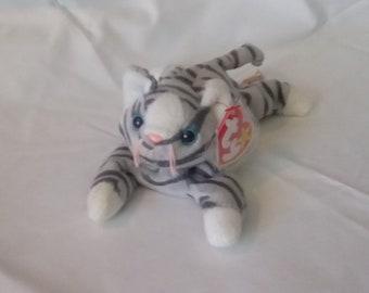 TY Baby Beanie striped kitty PRANCE
