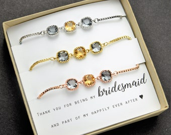 yellow gray charcoal gray Bridesmaid bracelet Personalized Bridesmaid Gift Bridesmaid Jewelry Mother of Bride Groom Jewelry Bridal Party Gif