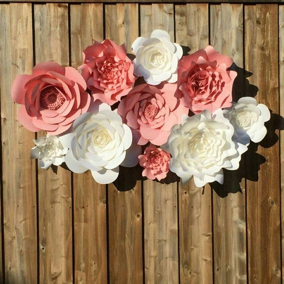 Items Similar To Giant 3d Paper Flower Wall Backdrop