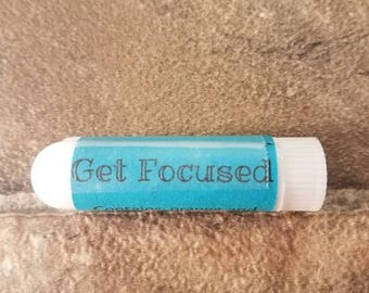 GET FOCUSED ESSENTIAL Oil Inhaler|Helps with Staying Focused Inhaler|Essential Oil Inhaler|Focus Inhaler|Test TakingInhaler|Personal Inhaler