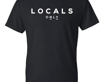 Locals Only T-shirt - Black