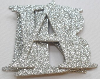 """GLiTTER LETTERS - 2"""" inches Elegant Chipboard Letter Die Cuts - Color Option - (two inches tall)"""