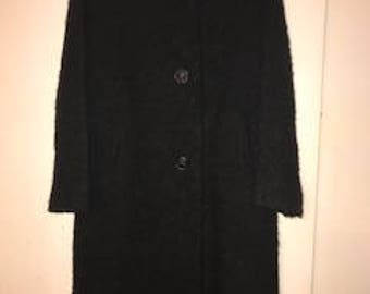 Vintage 60s Wool & Fur Coat