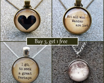 Pendant and Necklace - Buy 3 get 1 FREE