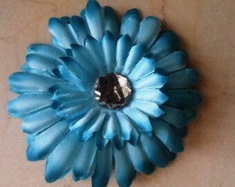 set of 2 appliques flowers Blue 11 cm