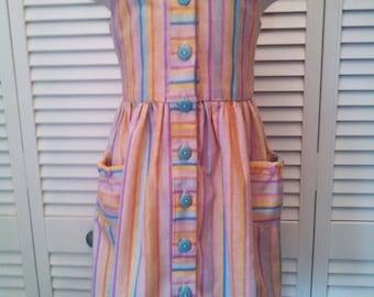 Striped pastel sundress