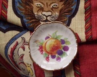 Vintage Summer Fruits Schwarzenhammer Germany Porcelain Miniature Dish