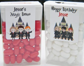 Tic Tac Stickers - Birthday Party Favors - Personalized Harry Potter Favors - Harry Potter Tic Tac Stickers - Wizard Party Favors