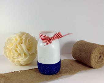 4th of July/Nautical Mason JAr