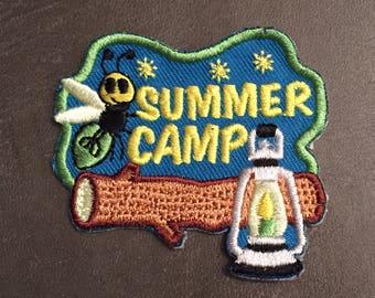 Summer Camp Merit Badge Firefly Lantern Log Patch
