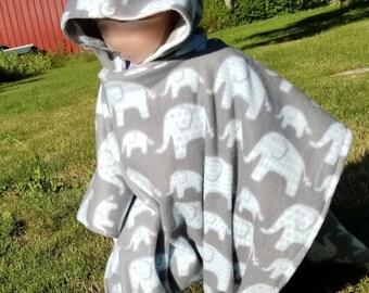 Infant/toddler/children's carseat poncho (elephant print)