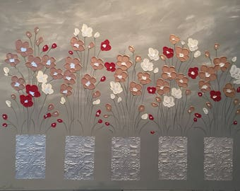 Potted Poppies 90x120cm by Naomi Crowther