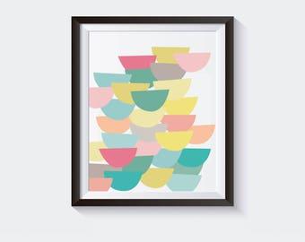 Abstract Art 8x10 Colorful Home Decor Printable