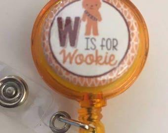 Retractable badge holder, Wookie, Chewbacca, Star Wars, Medical office nurse badge