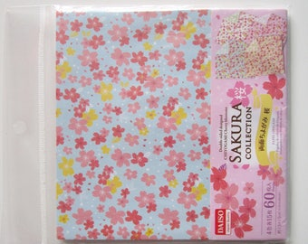 "Chiyogami origami paper double sided 15 x 15 cm ""sakura collection 2"" 60 sheets"