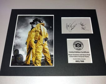 Breaking Bad - Bryan Cranston - Aaron Paul - Walter White - Jessie Pinkman - Signed Autograph Display - Fully Mounted and Ready To Be Framed
