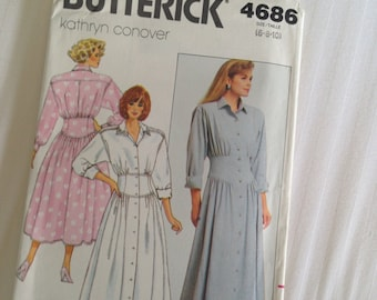 Misses Dress Size 6-8-10 Kathryn Conover Butterick #4686 Sew Pattern