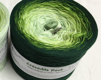Crocodile Rock - Green Gradient Yarn - Green Cotton Yarn - Green Acrylic Yarn - Wolltraum Yarn - Green Ombre Yarn - Green Yarn -Crochet Yarn
