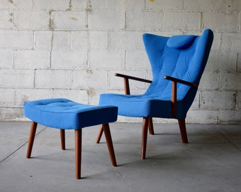 TUFTED Adrian PEARSALL styled mid century Lounge Chair
