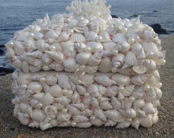 Shell Jewelry Box - Beach Decor (SB003)