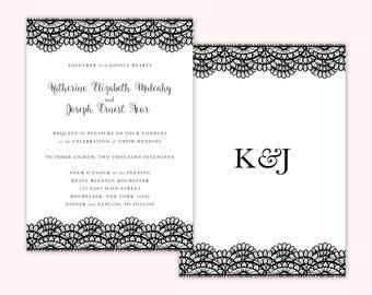 Classic Wedding Invitations, Custom Wedding Invitations, Simple Wedding Invitations, Pretty Wedding Invitations, Black and White Invitations