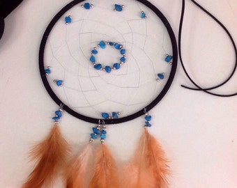 """Custom Made Dreamcatchers 3"""", choice of colours of feathers, thread and beads"""