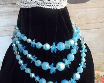 1950's Necklace, Three tier