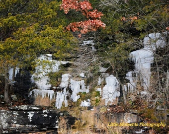 Ice, Falls, Digital, Download, Winter, Photo, Photography, Arkansas, Art, Collectibles,