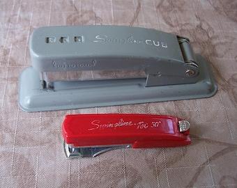 Vintage pair of swingline staplers.  C8-655-1