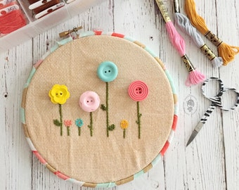 floral needle minder [CHOOSE YOUR COLOR!]