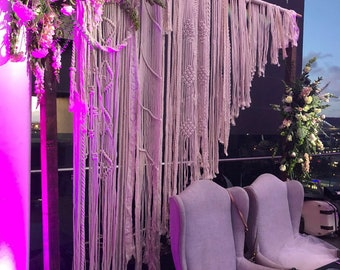 Macrame Wedding Ceremony Backdrop