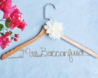 Custom Wedding hanger, bridal shower gift, bridesmaid name hanger, Bride Hanger