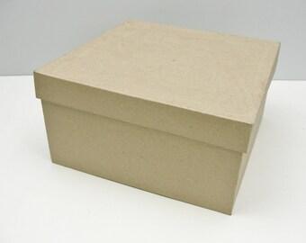 """Square paper mache box 9"""""""